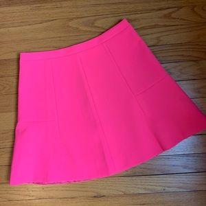 NWT J. Crew Neon Pink A-line Skirt
